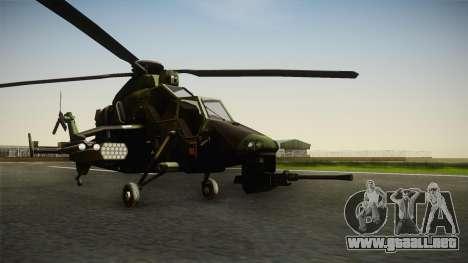 Eurocopter Tiger Extra Skin para la visión correcta GTA San Andreas