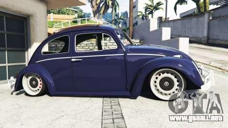 GTA 5 Volkswagen Fusca 1968 v0.9 [add-on] vista lateral izquierda