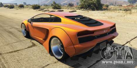 GTA 5 Pegassi Vacca RocketCow Widebody vista lateral izquierda