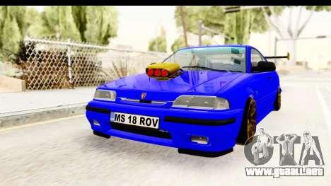 Rover 220 Kent Edition de Haur para GTA San Andreas vista posterior izquierda