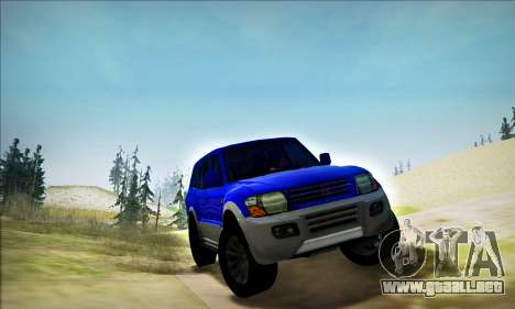 Mitsubishi Pajero 3 Beta para GTA San Andreas left