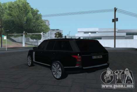 Land Rover Range Rover Vogue para GTA San Andreas left