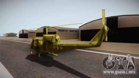 Bell UH-1H from Army Men: Serges Heroes 2 DC para GTA San Andreas vista posterior izquierda