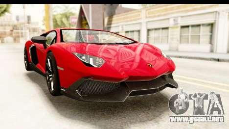 Lamborghini Aventador LP720-4 2013 para la visión correcta GTA San Andreas