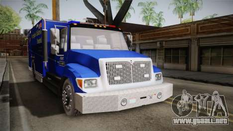 International Terrastar Ambulance 2014 para la visión correcta GTA San Andreas