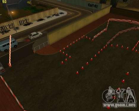 El circuito, como en la escuela de conducción para GTA San Andreas tercera pantalla