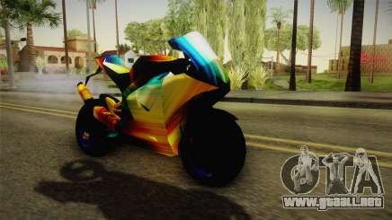 Rainbow Motorcycle para GTA San Andreas