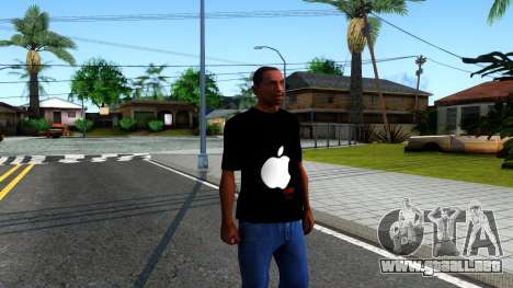 Apple T-shirt para GTA San Andreas segunda pantalla