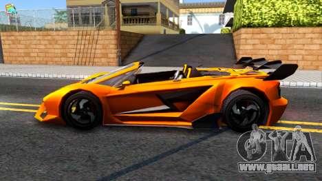 GTA V Pegassi Lampo Roadster para GTA San Andreas left
