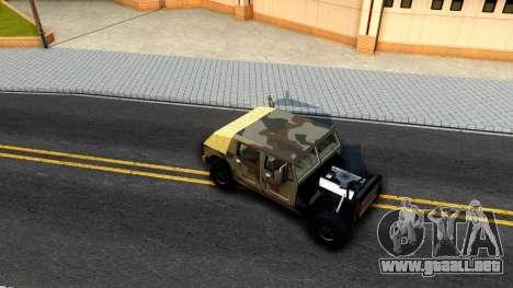 New Patriot GTA V para GTA San Andreas vista hacia atrás