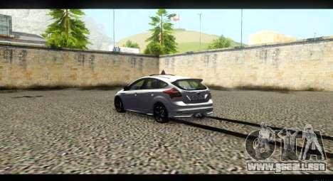 Ford Focus ST 2013 Formación para GTA San Andreas vista posterior izquierda