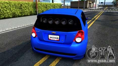 Chevrolet Aveo 2012 para la visión correcta GTA San Andreas