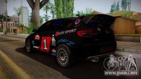 Audi RS3 Sportback Rally WRC para GTA San Andreas left
