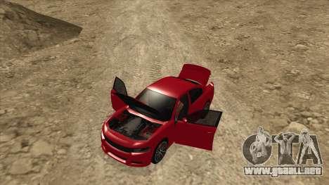 Dodge Charger R/T 2015 para GTA San Andreas vista hacia atrás