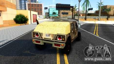 New Patriot GTA V para GTA San Andreas vista posterior izquierda