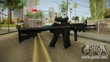M4A1 ACOG para GTA San Andreas tercera pantalla