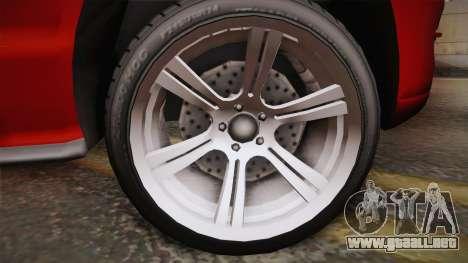 Ford Mustang 2005 para GTA San Andreas vista posterior izquierda