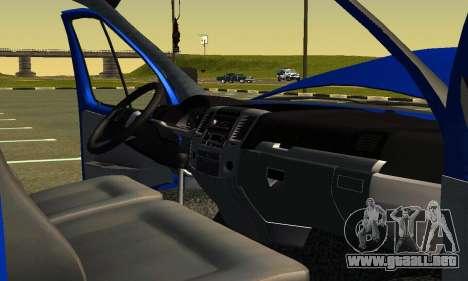 Gazel 3302 Negocio para la vista superior GTA San Andreas