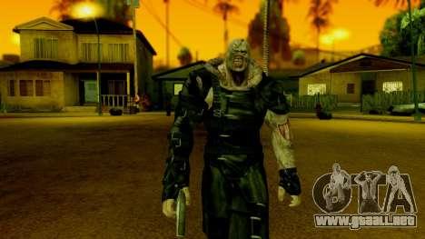 Resident Evil ORC - Nemesis para GTA San Andreas tercera pantalla