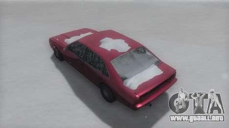 Emperor Winter IVF para GTA San Andreas vista posterior izquierda