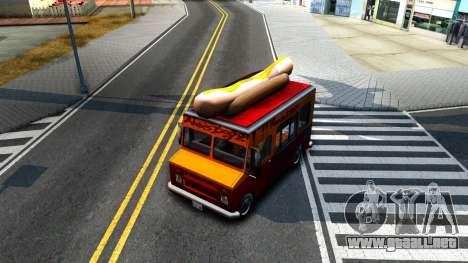 New HotDog Van para visión interna GTA San Andreas