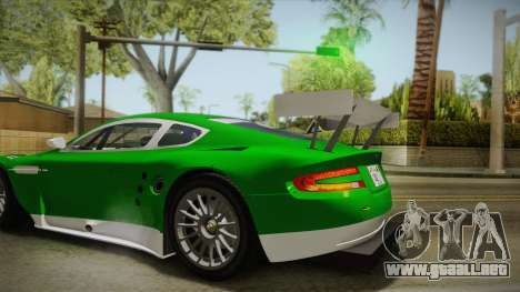 Aston Martin Racing DBR9 2005 v2.0.1 YCH Dirt para vista lateral GTA San Andreas