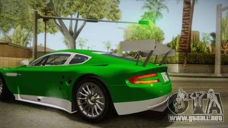 Aston Martin Racing DBR9 2005 v2.0.1 YCH para GTA San Andreas vista hacia atrás