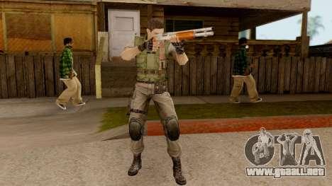Resident Evil HD - Chris Redfield S.T.A.R.S para GTA San Andreas tercera pantalla