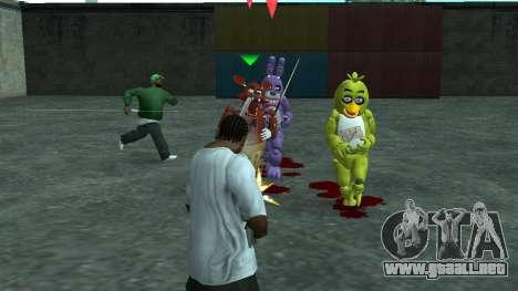 Five Nights At Freddys para GTA San Andreas tercera pantalla