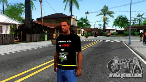 Love To Play San Andreas T-Shirt para GTA San Andreas