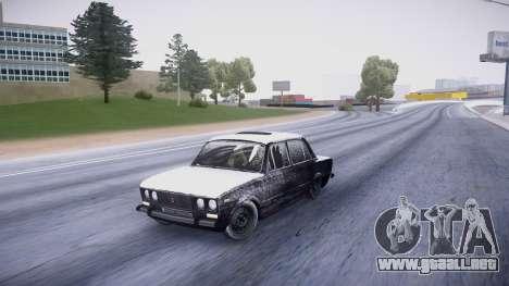 VAZ 2106 versión de invierno para GTA San Andreas left