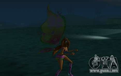 Flora Believix from Winx Club Rockstars para GTA San Andreas sucesivamente de pantalla