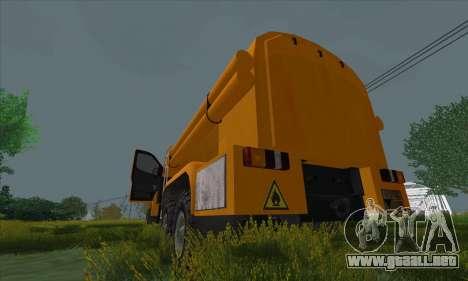 Ural Camión De Combustible Siguiente para la visión correcta GTA San Andreas
