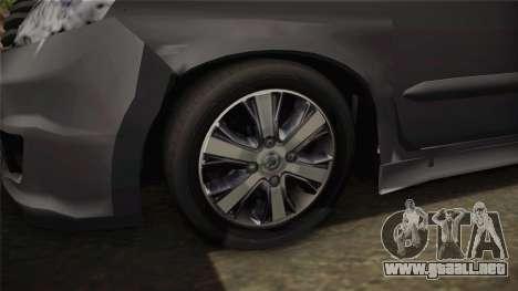 Nissan Grand Livina Highway Star para GTA San Andreas vista hacia atrás