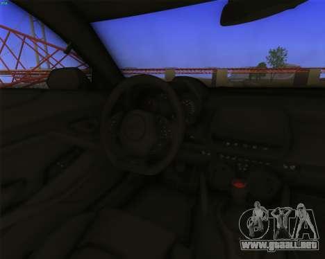 Chevrolet Camaro SS Xtreme para GTA San Andreas vista hacia atrás