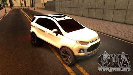 Ford EcoSport 2016 para GTA San Andreas left