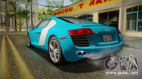Audi R8 Coupe 4.2 FSI quattro US-Spec v1.0.0 v2 para GTA San Andreas left