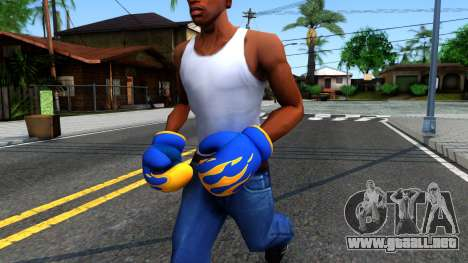 Blue With Flames Boxing Gloves Team Fortress 2 para GTA San Andreas