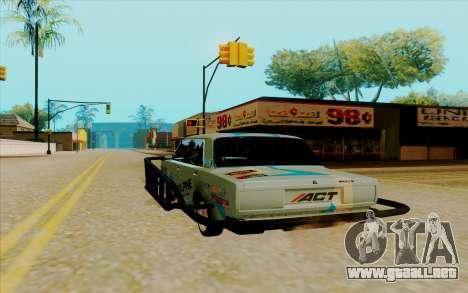 2107 para GTA San Andreas vista posterior izquierda