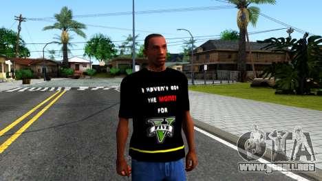 Love To Play San Andreas T-Shirt para GTA San Andreas segunda pantalla