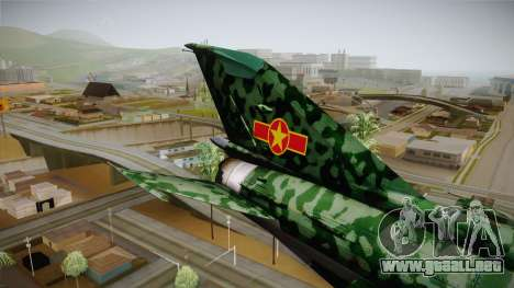 MIG-21 Norvietnamita para GTA San Andreas vista hacia atrás