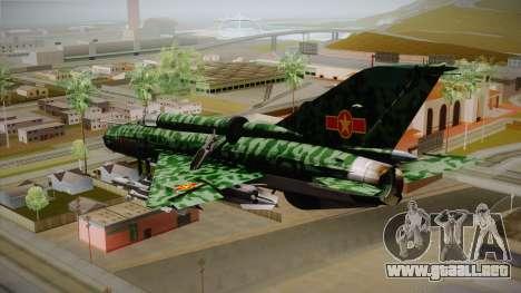 MIG-21 Norvietnamita para GTA San Andreas left