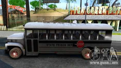Prison Bus Driver Parallel Lines para GTA San Andreas left