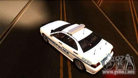 1998 Dinka Chavos Montgomery Police Department para visión interna GTA San Andreas