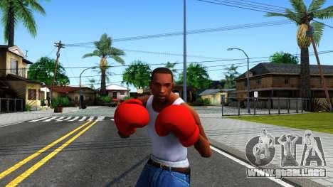 Red Boxing Gloves Team Fortress 2 para GTA San Andreas tercera pantalla