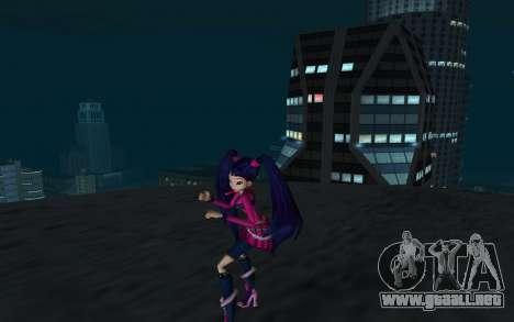 Musa Rock Outfit from Winx Club Rockstars para GTA San Andreas segunda pantalla