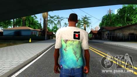 Design Galaxy T-Shirt para GTA San Andreas tercera pantalla