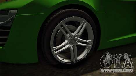 Audi R8 Coupe 4.2 FSI quattro EU-Spec 2008 para GTA San Andreas vista hacia atrás