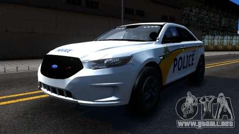 Ford Taurus Slicktop Metro Police 2013 para GTA San Andreas