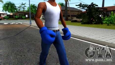Blue Boxing Gloves Team Fortress 2 para GTA San Andreas segunda pantalla